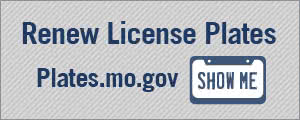 Renew your license plate at plates.mo.gov