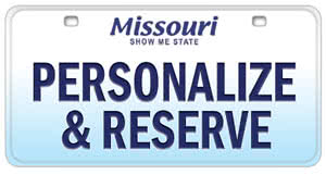 Personalize and reserve a Missouri license plate online