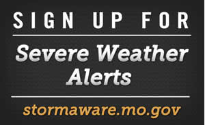 Sign up for Severe Weather Alerts