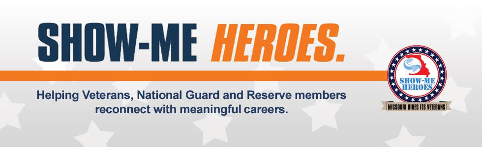 Jobs for Missouri's Veterans at showmeheroes.mo.gov