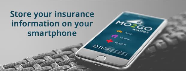 Store your insurance information on your smartphone with the Mo2Go Wallet mobile app.