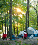 campsite at Mo. State Park